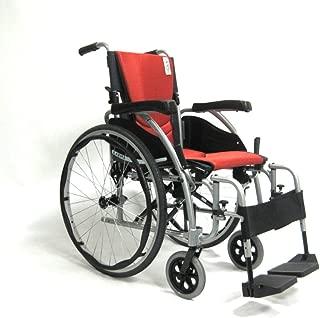 Karman Ergonomic Wheelchair, Pearl Silver Frame and Orange Imola Cushions, 18