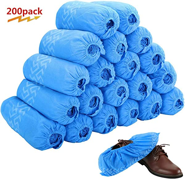 Disposable Boot Shoe Covers 200 Pack 100 Pairs Non Slip Durable Indoor Protect Your Home Floors And Shoes