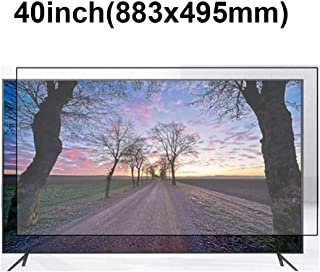 KUYUC Anti Blue Light 40 Inches TV Screen Protector, LED Ultra-Clear Screen Filter, Eye Protection Anti-Glare Filter Film, LCD Anti-Scratch Screen Protector (Color : A)
