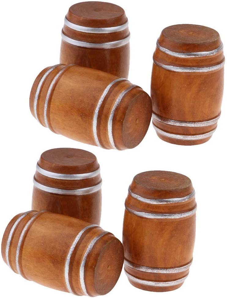 HUAXUE Set Recommended of 6 Pieces Miniature Beer 1 Cask Popular Doll Barrel 12 for