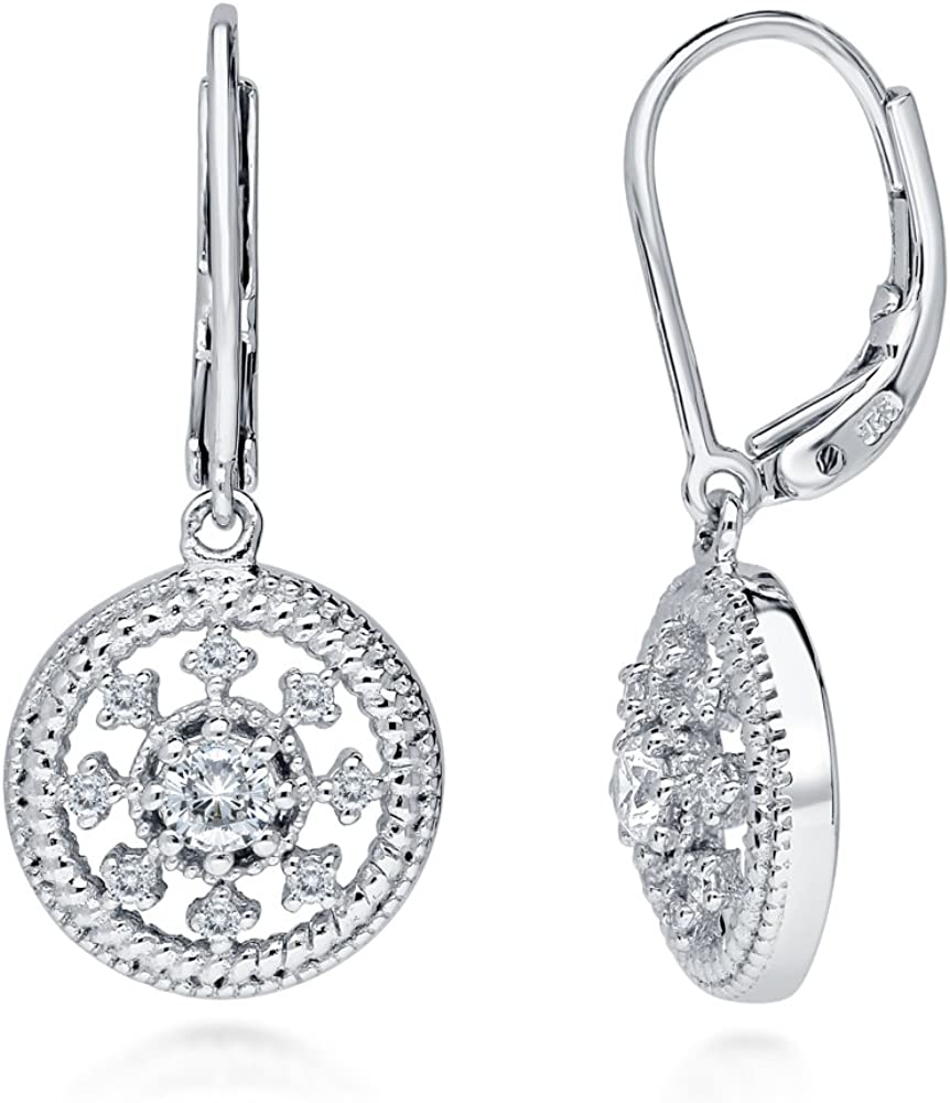 BERRICLE Be super welcome Rhodium Plated Jacksonville Mall Sterling Silver CZ De Zirconia Cubic Art