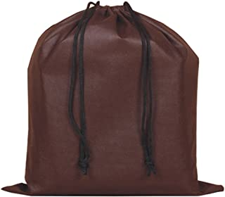 2 Piece Non-woven Breathable Drawstring Pouch Dust Bags for Handbags (Coffee)