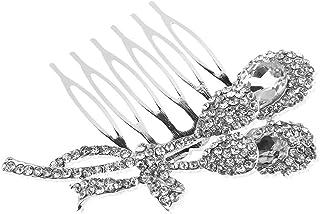 Pixnor Pettine matrimonio Accessori tornante elegante fatto a mano da sposa capelli pettine