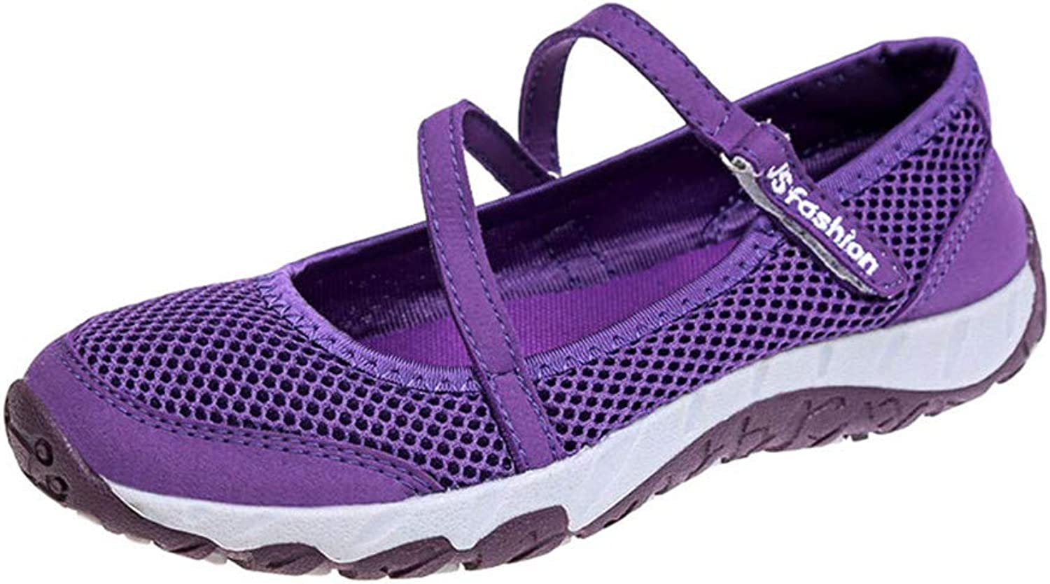 2019 New Flat shoes Women Air Mesh Breathable Ladies Mary Jane Sneakers Fashion Female Purple Pink Flats Boat shoes