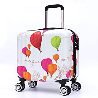 YCYHMYF White Multicolored Balloon Cartoon Non-Slip wear-Resistant 16 inch Suitcase Child Suitcase