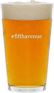 #fifthavenue - Glass Hashtag 16oz Beer Pint