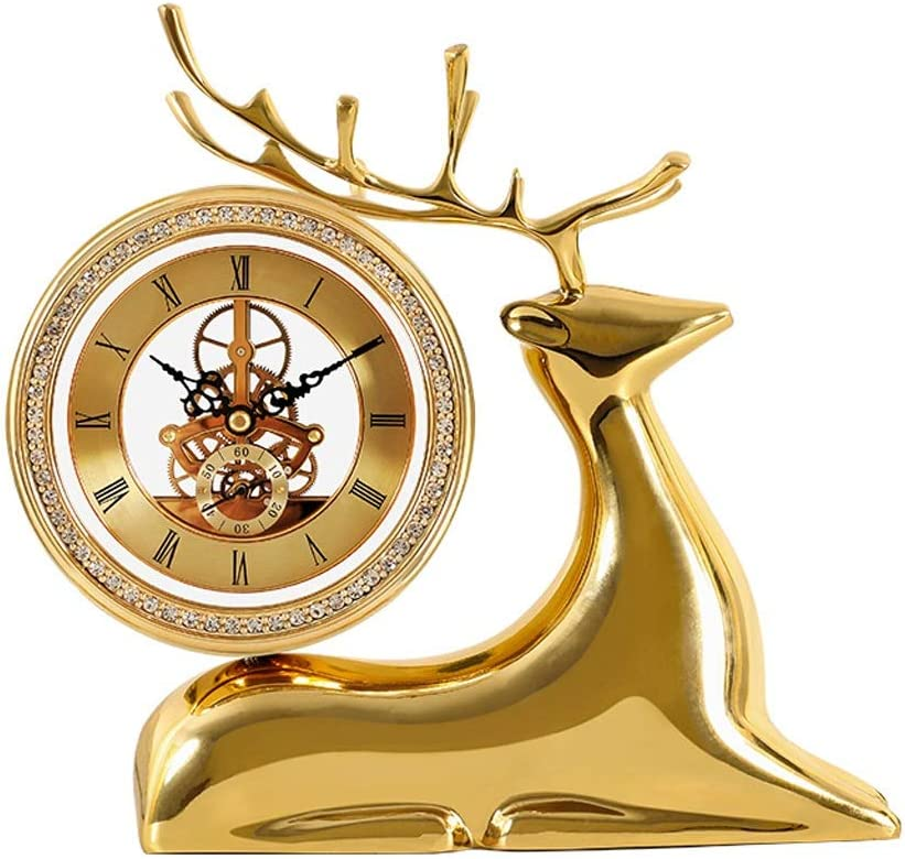 zxb-shop Table Max 57% OFF Clock Pure Imitation Brass Fresno Mall Mec Copper