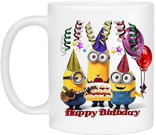 Happy Birthday Mug - Minions Mug for Kids - Personalized Coffee Mug…