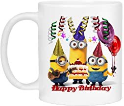 Happy Birthday Mug - Minions Mug for Kids - Personalized Coffee Mug…