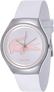 Lacoste Valencia Three-Hand Silver and White Silicone Women's watch 2000838