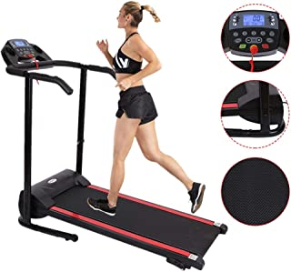 Xesvk Home Treadmills, Folding Incline Treadmills for Running Walking Exercise with LED Display of Tracking Speed, time, Distance, Pulse and Calories Versatile Fitness Running Treadmill