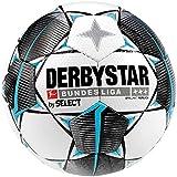 Derbystar Unisex Erwachsene Bundesliga Brillant Replica Fußball, Weiss schwarz Petrol, 5