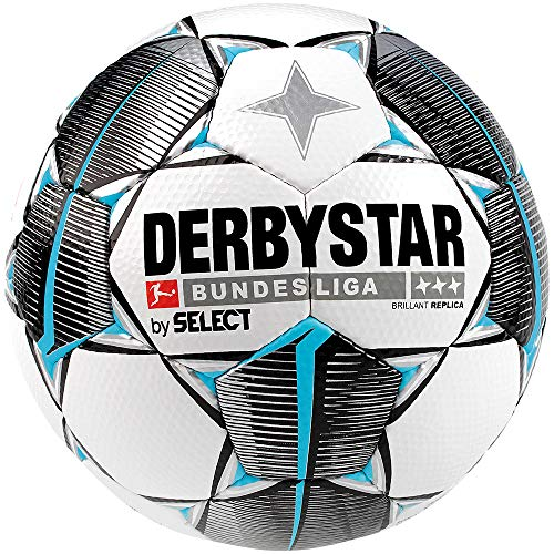 DERBYSTAR 2019/2020 Bundesliga Replica Match Soccer Ball, Size 5, White