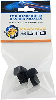 Mean Mug Auto 4154-232314B (Two) Front Windshield Washer Nozzles - For: Dodge Dart - Replaces OEM #: 68081370AB