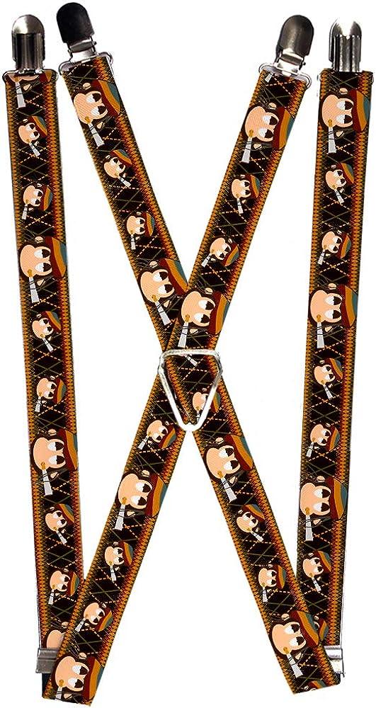Buckle-Down Men's Suspender-Monkey