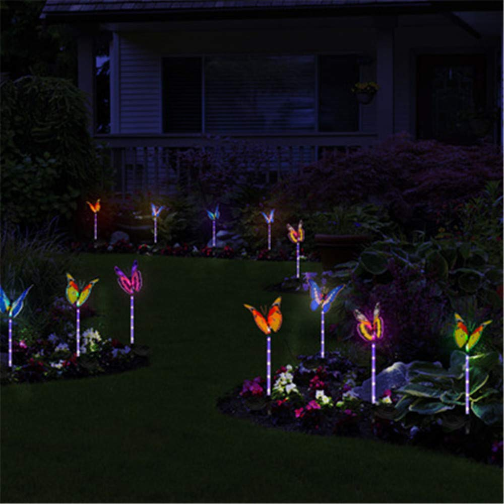 Mariposa Decorativa Luces De Jardín Con Energía Solar Exterior Impermeable Solar Jardín Lámpara Led Animal Paisaje Césped Lámpara Color 60 * 8 Cm: Amazon.es: Iluminación