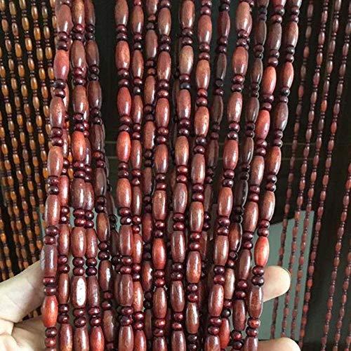 Tenda a Perline per Porte Legna Sospeso Stringhe Pannello, per Portone Divisorio Soggiorno Cucina Decorazione, Personalizzare (Color : B, Size : 31 strands-70x150cm)