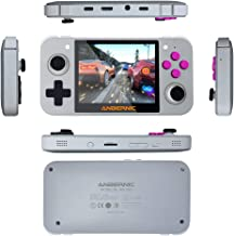 New Video Game Handheld Game Console Mini 64-bit 3.5-inch IPS Screen 16G + 32G TF Gamers (Color : Transparent 16G 32G)