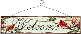 CWI Gifts Cardinal Welcome Sign (Set of 2), 15 x 3.5 x 2