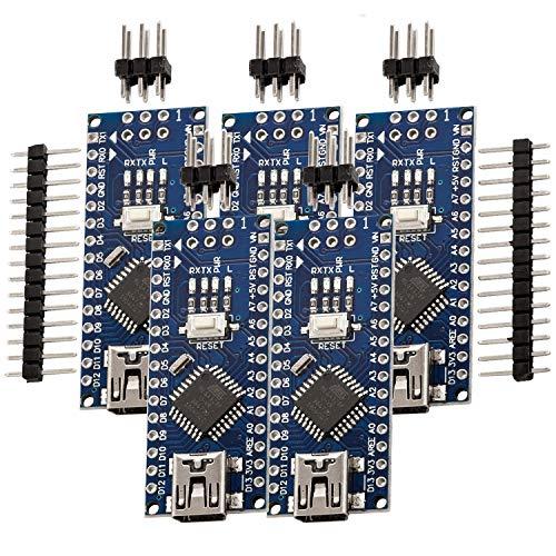 5 x AZDelivery Nano V3.0 mit Atmega328 CH340 100% Arduino kompatibel mit Nano V3 inklusive E-Book!