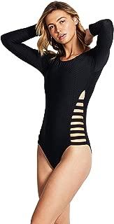 Seafolly Women's Strappy Side Long Sleeve One Piece Swimsuit