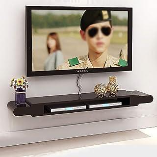 Los estantes flotantes Gabinete de televisión conjunto de cajas de mesa de caja sala de estar de pared de pared de pared d...