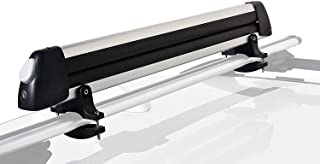 Booster Universal Car Ski Rack Snowboard Rack Roof Rack Ski Car Rack Fits 6 Pairs of Ski Board or 4 Snowboards, Ski Roof Carrier, Fit Most Vehicles Equipped Cross Bars
