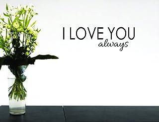 بتصميم من الفينيل moti 15943مطبوع عليه I Love You دائم ً ا جدارية لاصقة ملصق مائي ، مقاس 40سم x 40سم ، باللون الأسود