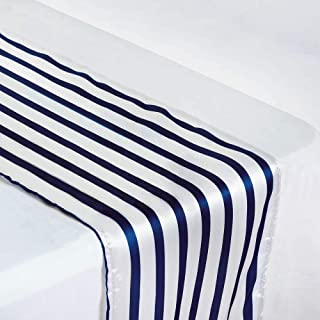 Best navy blue and white striped table runners Reviews