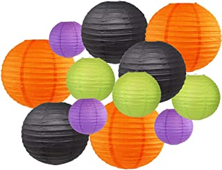 Just Artifacts Decorative Round Chinese Paper Lanterns 12pcs Assorted Sizes & Colors (Color: Bootiful)