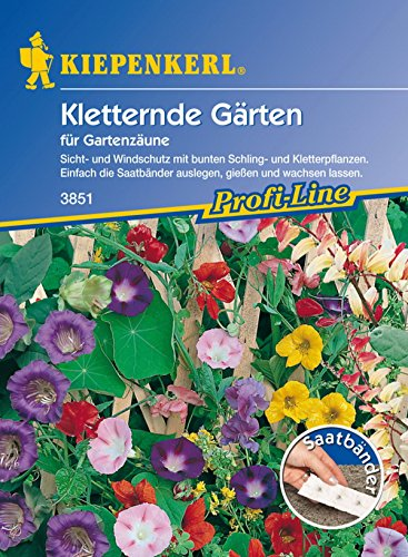 Kiepenkerl, Kletternde Gärten für Gartenzäune, Saatband