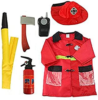 EZSTAX Disfraz de Bomberos para Niños de Halloween