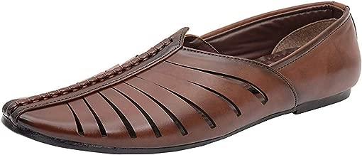 Bhagwati Boot House Ethnic Faux Leather Mojari for Men/Leather Punjabi Jutti,Juti or Mojari for Men