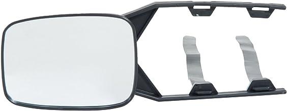 HOMCOM Juego de 2 Piezas Espejo Retrovisor Universal para Caravana Camión Remolque con Correa Ajustable Negro 35.5x11.5x6.5cm