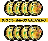 TeaZA Herbal Energy Pouch Mango Habanero Flavor-Nicotine Free, Tobacco Free Pouches - Energy Dip Pouches [8 Pack]