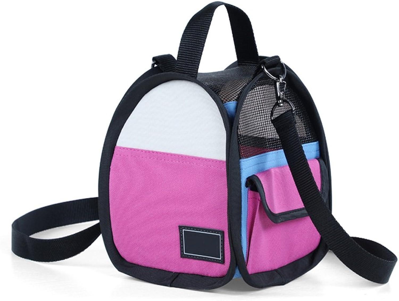 Pet Travel Carrier Small Transport Bag Pet Carrier Backpack Portable Single Shoulder Bag Carrier Soft Comfortable Breathable Window Handbag for Traveling Walking Travelling