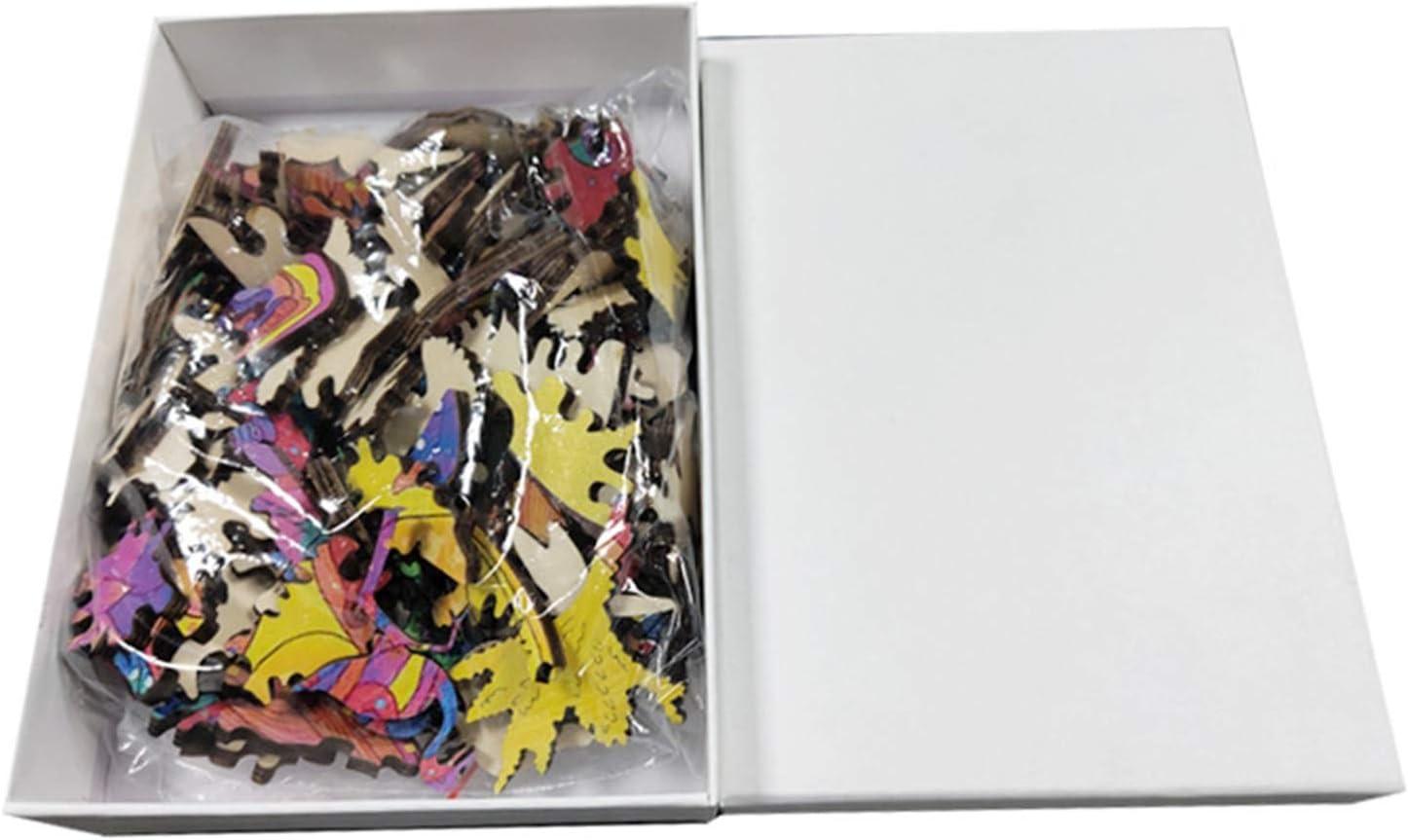 irregul/är H/ölzernes Tierpuzzle Holzpuzzle Einzigartige Form Puzzleteile Erwachsene und Kinder Cham/äleon 11.69x8.27 Dekompression Lernspielzeug Bestes Puzzle Spielzeug Geschenk und Familienspiel