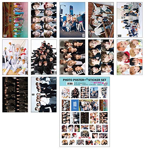 IDOLPARK K-POP Group 2019 New 12 Posters + 1 Sticker Set (All A3 Size) (NCT)