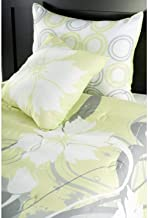 """Rizzy Home BS0874 Bed Skirt, 39""""X76"""", Yellow"""