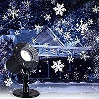 Nortix LED Christmas Moving Snowfall Projector Lights (Black)