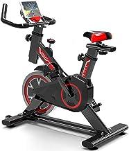 WuoooLi Bicicleta de Spinning, Asiento Ajustable,con Pantalla LCD,Equipo de Entrenamiento de Entrenamiento Cómodo Cojín Sillín Unisex,para Gimnasio de Oficina en Casa …EEUK