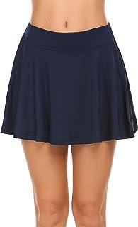 Falda de deporte para mujer de Balancora, falda de tenis, para golf, correr, tenis, fitness, con pantalón corto, tallas S-XXL
