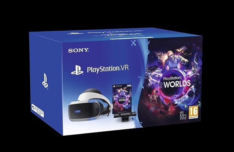 Sony playstation 4 - ps vr mk4, piu` camera, piu` gioco vr worlds (voucher) - bundle fisico standard 9782117