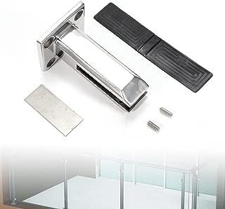 1x Stair Handrail Glass Spigot Pool Fence Frameless Balustrade Post Clamps - Marine Grade Stainless Steel (US Stock)