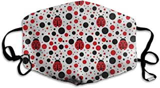 Face Mask Cartoon Ladybug Polka Dots Trendy Cycling Half Face Earloop Mouth Mask for Boys