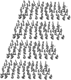 Baosity Set of 400pcs Plastic 2cm Toy Soldiers Figurine Army Sand Scene Model Black