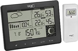 TFA Dostmann Estación meteorológica inalámbrica Elements, 35.1158.01, con emisor Exterior, previsión meteorológica, Pantal...
