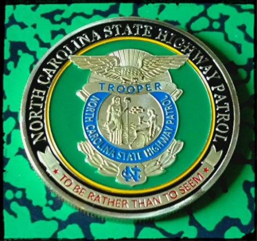 North Carolina State Highway Patrol Trooper Police Challenge Art Coin