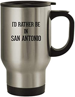 I'd Rather Be In SAN ANTONIO - Stainless Steel 14oz Travel Mug, Silver