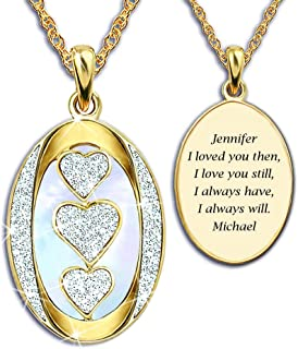 "Diamond ""I Love You"" Personalized Pendant Necklace -..."